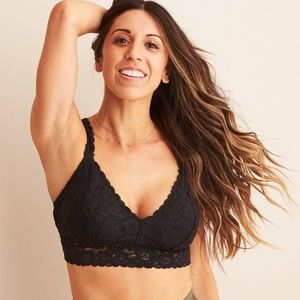 Aerie softest lace push up bralette size small